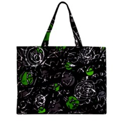 Green mind Zipper Mini Tote Bag