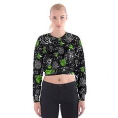 Green mind Women s Cropped Sweatshirt