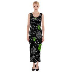 Green mind Fitted Maxi Dress