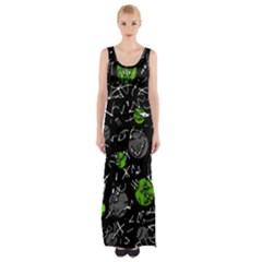 Green mind Maxi Thigh Split Dress