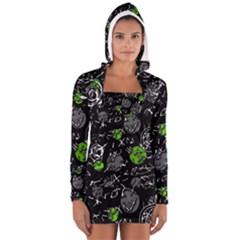 Green mind Women s Long Sleeve Hooded T-shirt