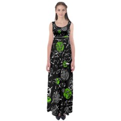 Green mind Empire Waist Maxi Dress