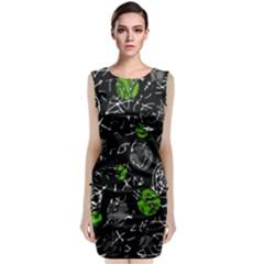 Green mind Classic Sleeveless Midi Dress