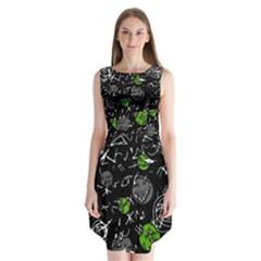 Green mind Sleeveless Chiffon Dress
