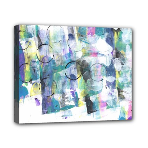 Background Color Circle Pattern Canvas 10  x 8