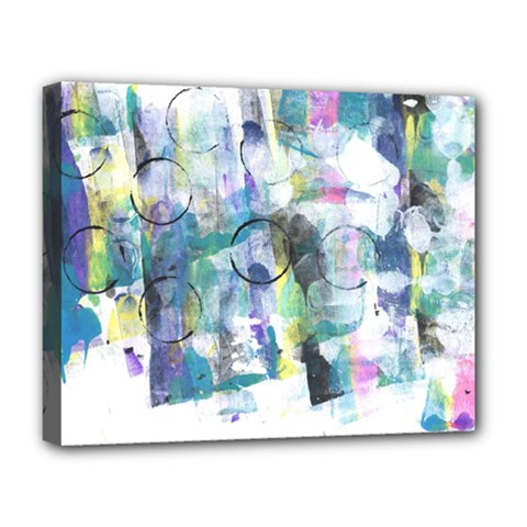 Background Color Circle Pattern Deluxe Canvas 20  x 16
