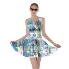 Background Color Circle Pattern Skater Dress