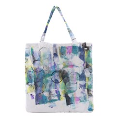 Background Color Circle Pattern Grocery Tote Bag