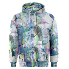 Background Color Circle Pattern Men s Pullover Hoodie