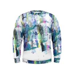Background Color Circle Pattern Kids  Sweatshirt