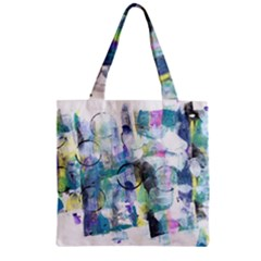 Background Color Circle Pattern Zipper Grocery Tote Bag