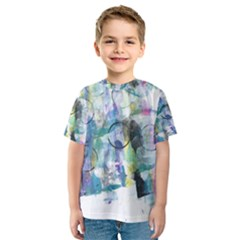 Background Color Circle Pattern Kids  Sport Mesh Tee