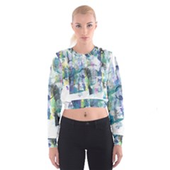 Background Color Circle Pattern Women s Cropped Sweatshirt