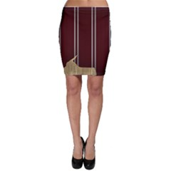 Background Texture Distress Bodycon Skirt