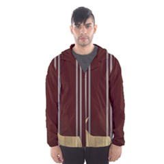 Background Texture Distress Hooded Wind Breaker (Men)