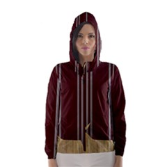 Background Texture Distress Hooded Wind Breaker (Women)