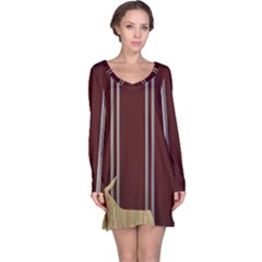 Background Texture Distress Long Sleeve Nightdress