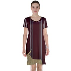 Background Texture Distress Short Sleeve Nightdress