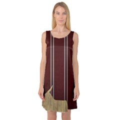 Background Texture Distress Sleeveless Satin Nightdress