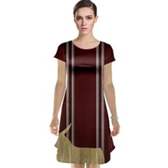 Background Texture Distress Cap Sleeve Nightdress