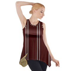 Background Texture Distress Side Drop Tank Tunic