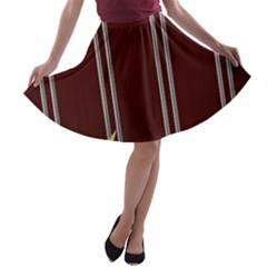 Background Texture Distress A-line Skater Skirt