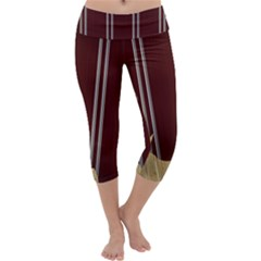 Background Texture Distress Capri Yoga Leggings