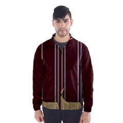 Background Texture Distress Wind Breaker (Men)
