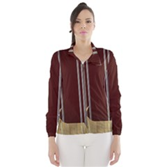 Background Texture Distress Wind Breaker (Women)