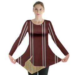 Background Texture Distress Long Sleeve Tunic