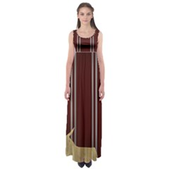 Background Texture Distress Empire Waist Maxi Dress