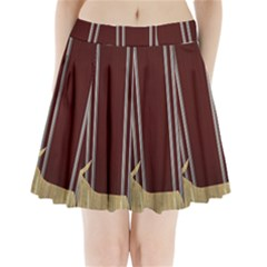 Background Texture Distress Pleated Mini Skirt
