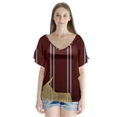 Background Texture Distress Flutter Sleeve Top