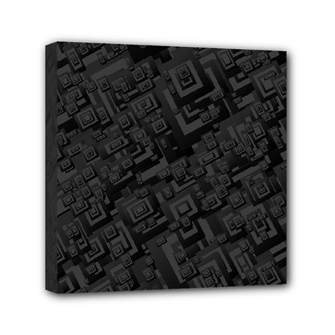 Black Rectangle Wallpaper Grey Mini Canvas 6  x 6