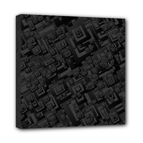Black Rectangle Wallpaper Grey Mini Canvas 8  x 8