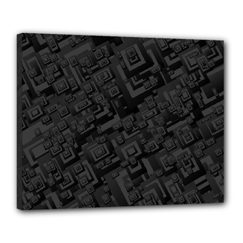 Black Rectangle Wallpaper Grey Canvas 20  x 16