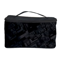 Black Rectangle Wallpaper Grey Cosmetic Storage Case