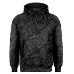 Black Rectangle Wallpaper Grey Men s Pullover Hoodie