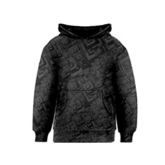 Black Rectangle Wallpaper Grey Kids  Pullover Hoodie