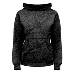 Black Rectangle Wallpaper Grey Women s Pullover Hoodie