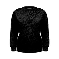 Black Rectangle Wallpaper Grey Women s Sweatshirt