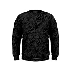 Black Rectangle Wallpaper Grey Kids  Sweatshirt