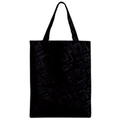 Black Rectangle Wallpaper Grey Zipper Classic Tote Bag