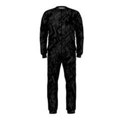 Black Rectangle Wallpaper Grey OnePiece Jumpsuit (Kids)
