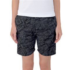 Black Rectangle Wallpaper Grey Women s Basketball Shorts