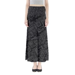 Black Rectangle Wallpaper Grey Maxi Skirts