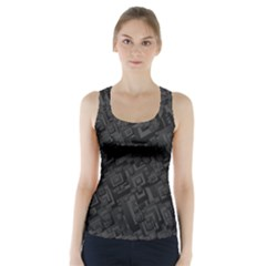 Black Rectangle Wallpaper Grey Racer Back Sports Top