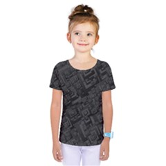 Black Rectangle Wallpaper Grey Kids  One Piece Tee