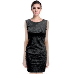 Black Rectangle Wallpaper Grey Sleeveless Velvet Midi Dress
