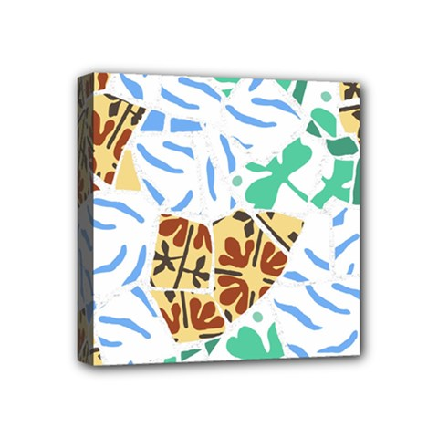 Broken Tile Texture Background Mini Canvas 4  x 4